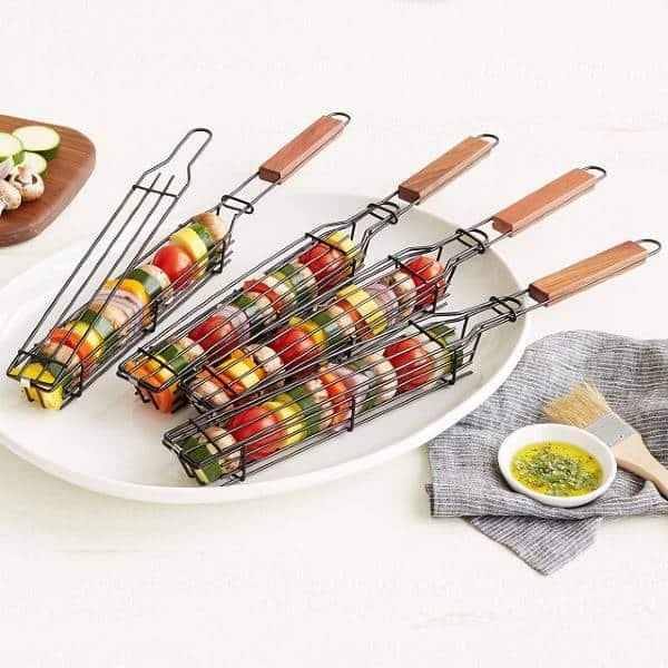Kabob Grilling Baskets dirty santa gifts
