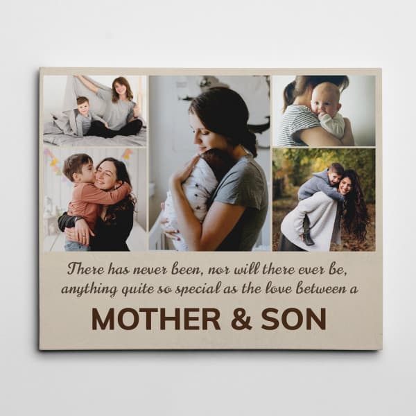 'Love between Mother and Son' Collage Canvas gifts for bf parents