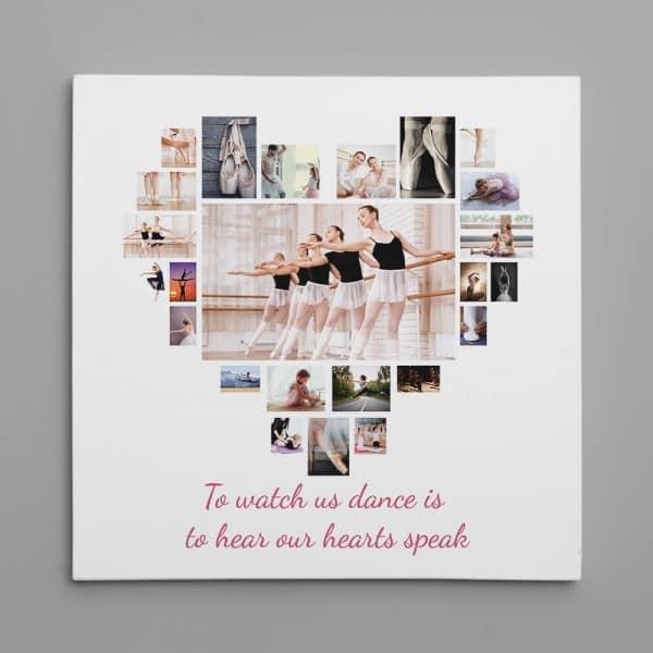 Dance Heart Photo Collage: Day 9 Nine Ladies Dancing