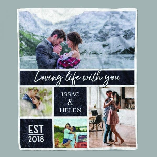 thing to get your fiance: Loving Life With You Blanket