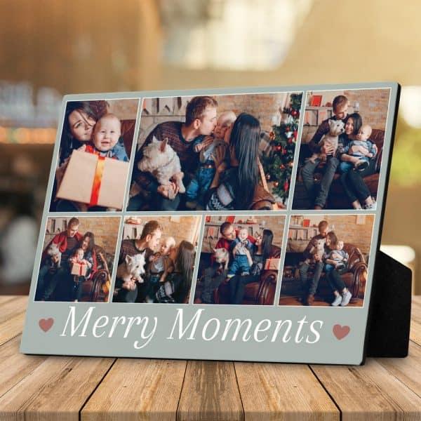 Christmas gift for her: Merry Moments Custom Desktop Plaque