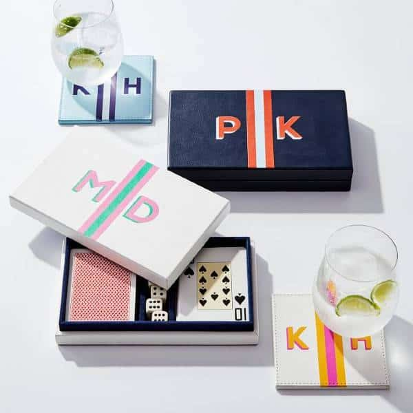 Monogram Playing Cards 21st Birthday Gift Ideas