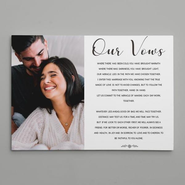 Our Vows Canvas Print