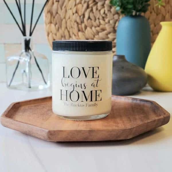Personalized Family Candle dirty santa gifts