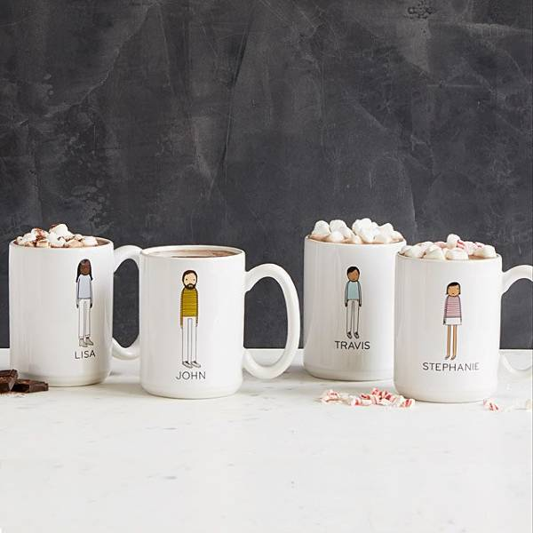 Personalized Family Mugs last minute christmas gifts