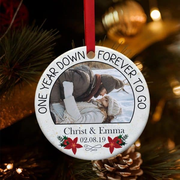 Personalized One Year Down Forever To Go Ornament