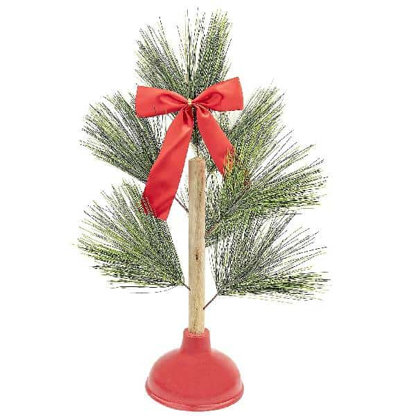 Plunger Christmas Tree To Bring Out The Toilet Humour dirty santa gifts
