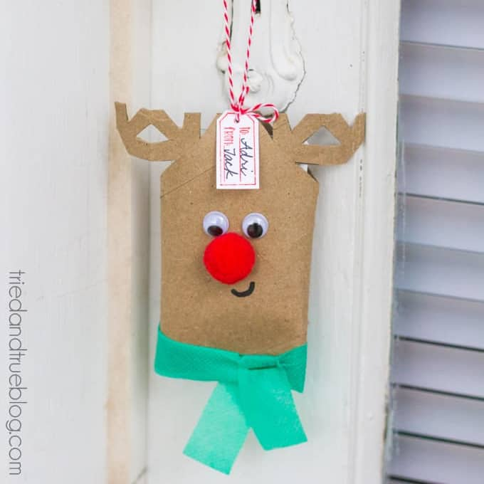 DIY Christmas Gifts - Rudolph Gift Card Holder