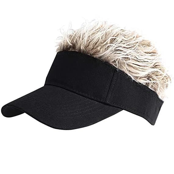 Sun Visor Cap with Fake Hair christmas gifts for grandpa