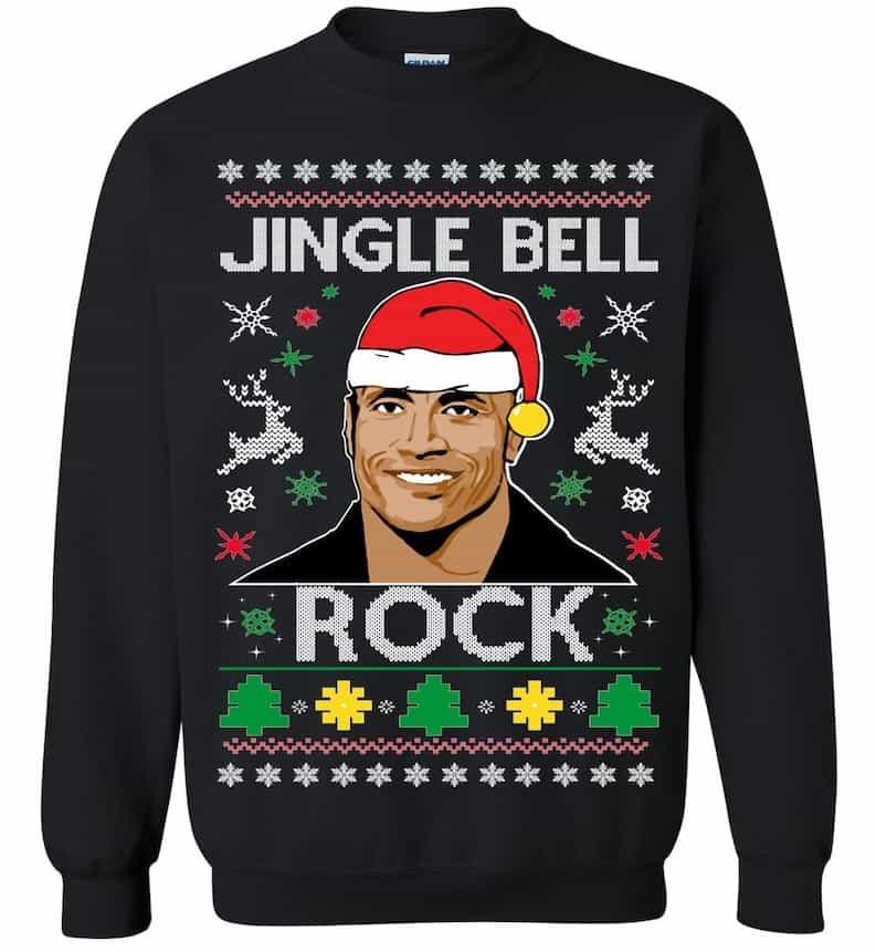 Ugly Christmas Sweater The Rock Jingle Bell Rock
