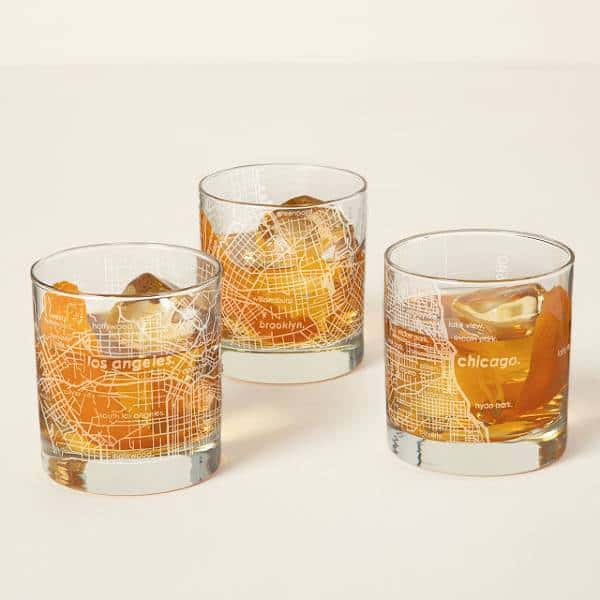 Urban Map Glass Inexpensive Gifts For Coworkers