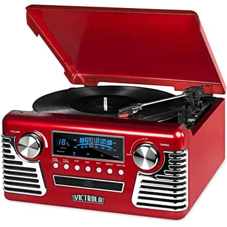 Victrola Retro Bluetooth Record Player & Multimedia Center
