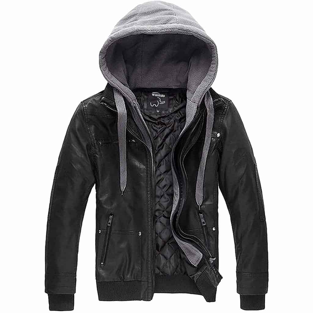 Christmas Gift Ideas - Wantdo Men's Leather Jacket