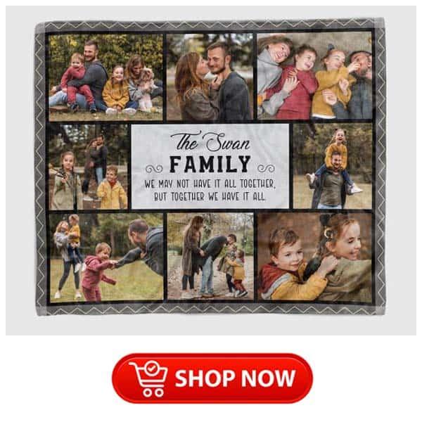 custom family photo collage blanket