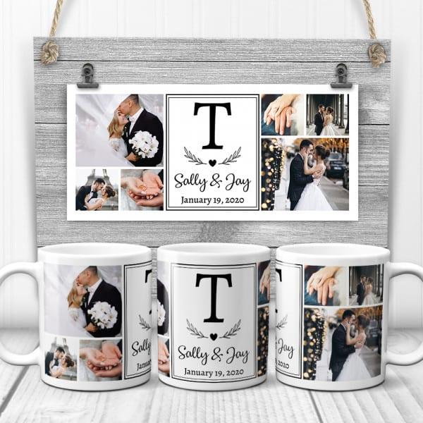 stocking stuffer for wife: Wedding Photo Collage Mug