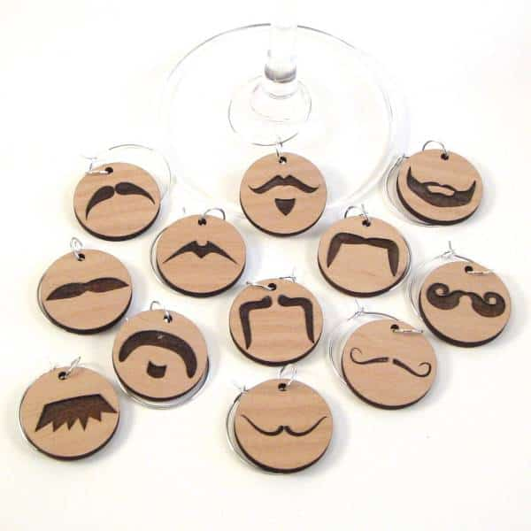 Wine Glass Charms - Mustache Inexpensive Gifts For Coworkers