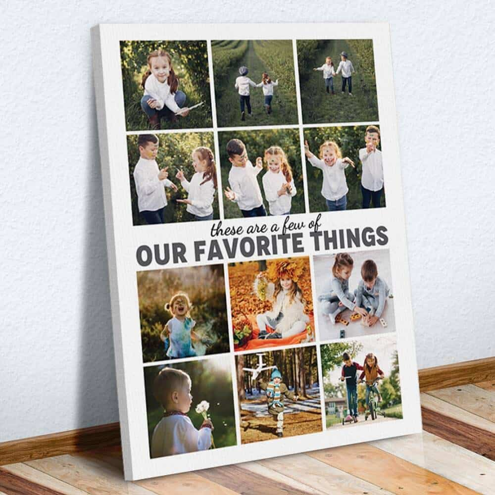 a photo collage print with photos of family members - great gift for mother-in-law