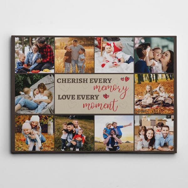 Love Every Moment Photo Collage Canvas