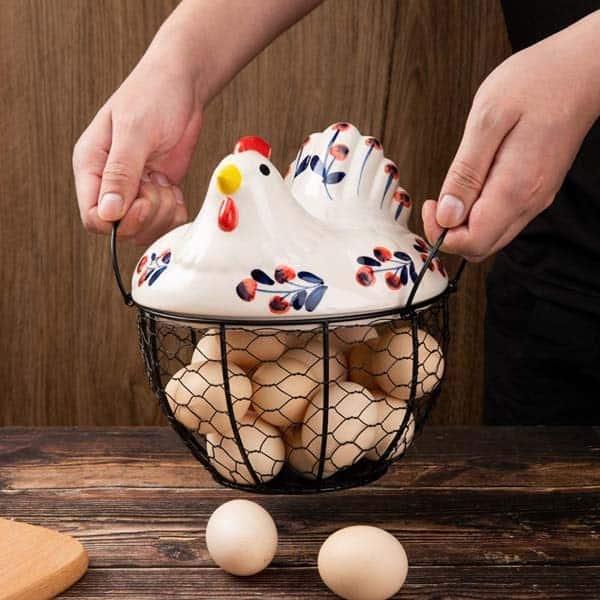 Chicken Egg Baskets: Day 3 Three French Hens