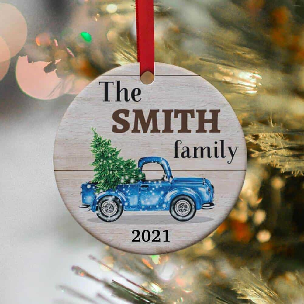 a christmas custom ornament gift for boss women