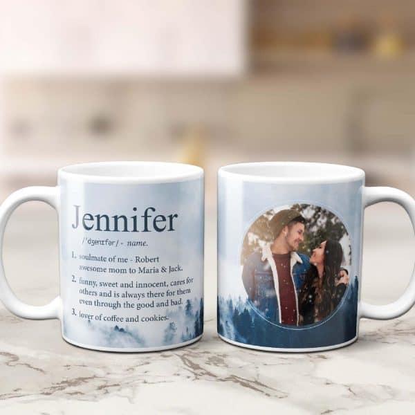 funny name definition custom mug, secret santa gift this christmas season