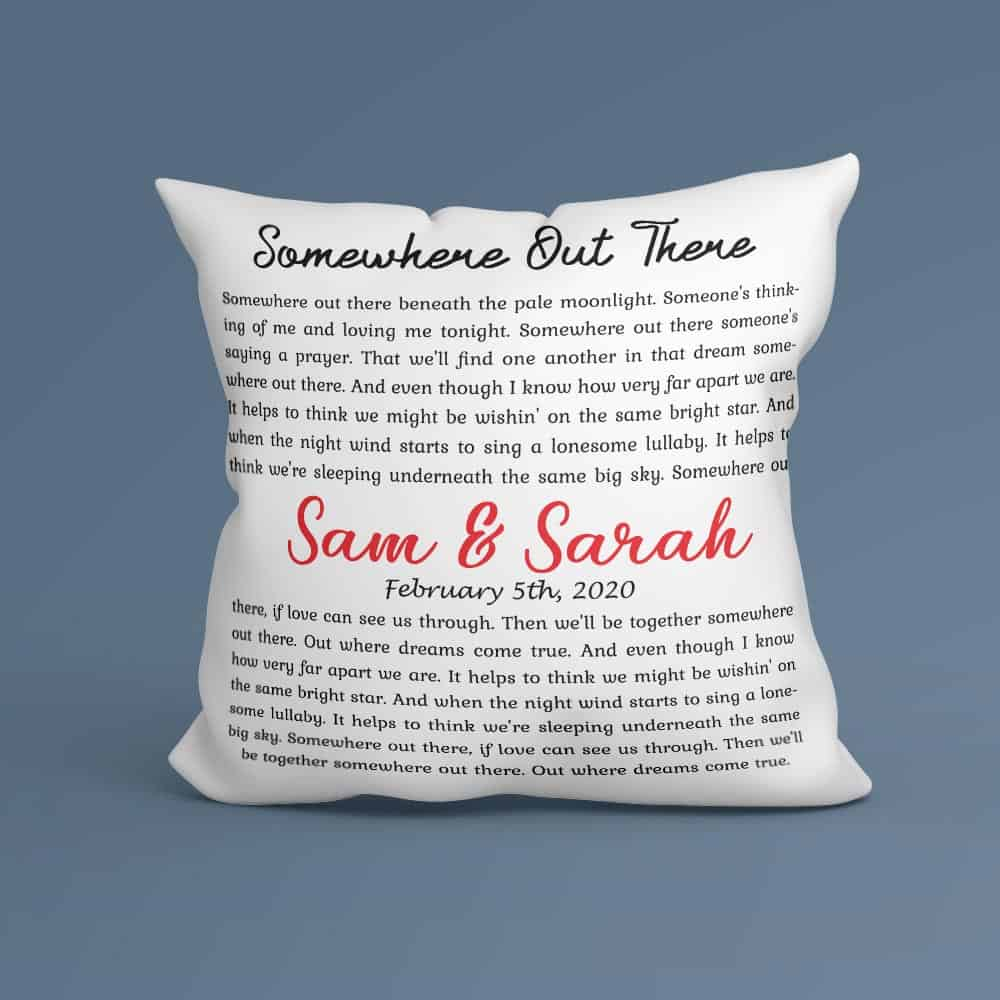 Christmas Gift Ideas - Song Lyrics Pillow