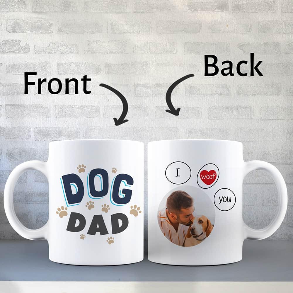 Christmas Gift Ideas - Dog Dad Custom Coffee Mug