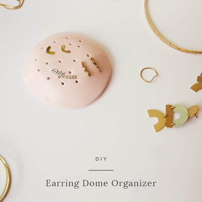 DIY Christmas Gifts - DIY Earring Dome Organizer
