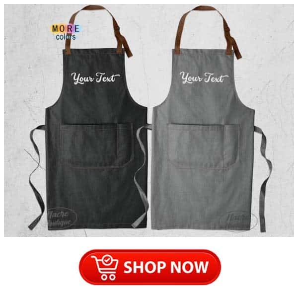 gifts for parents on christmas: embroidered apron
