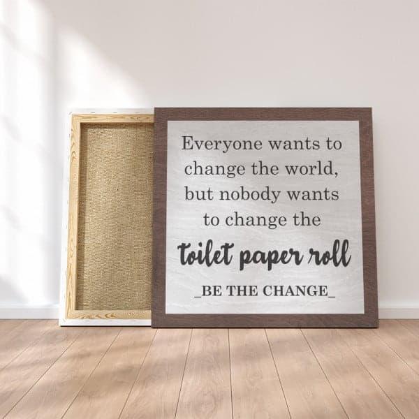 Funny Bathroom Canvas Print Dirty Santa Gifts