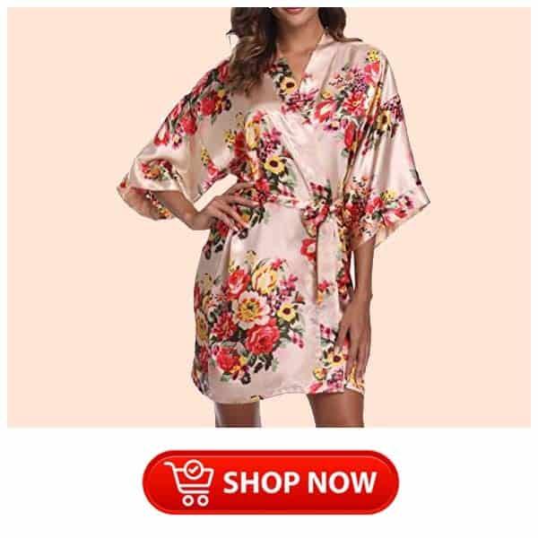 single mum gift ideas: Floral Satin Robes