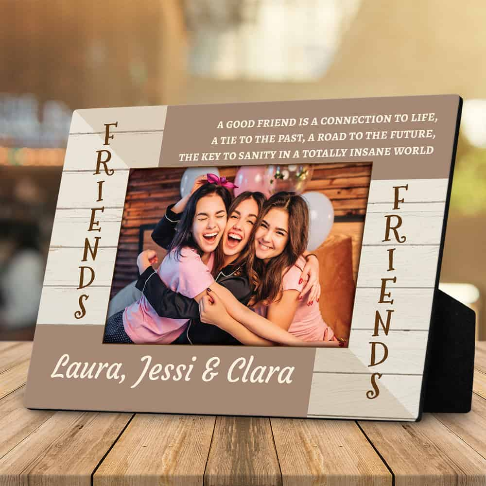 Christmas Gift Ideas - Good Friends Custom Desktop Plaque