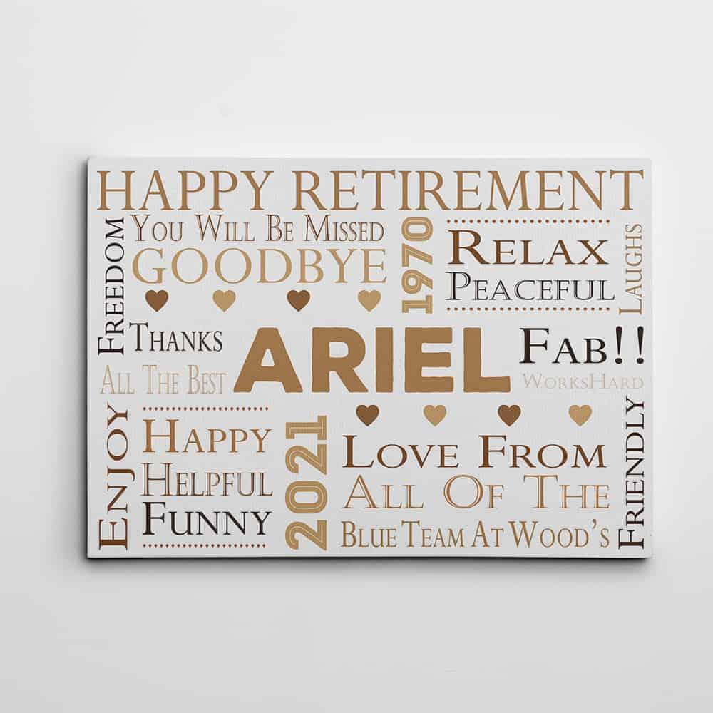 happy retirement print - gift for retiring female boss