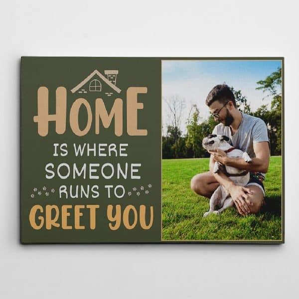 Dog Dad Custom Photo Canvas