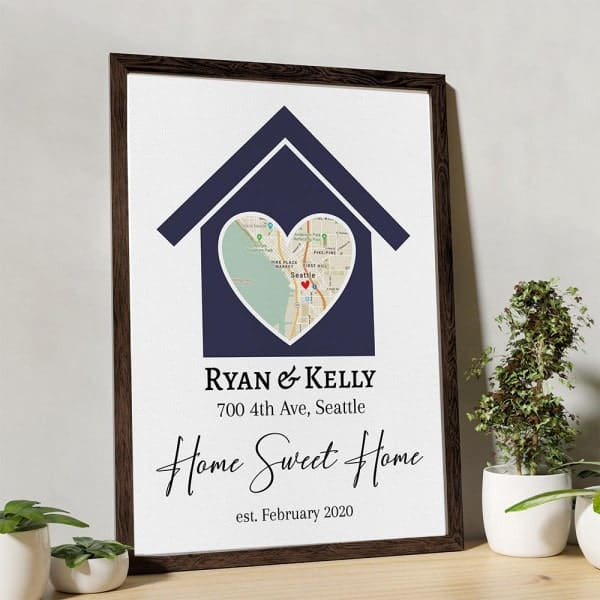 home sweet home canvas: gifts for your brother and sister in law on their wedding day