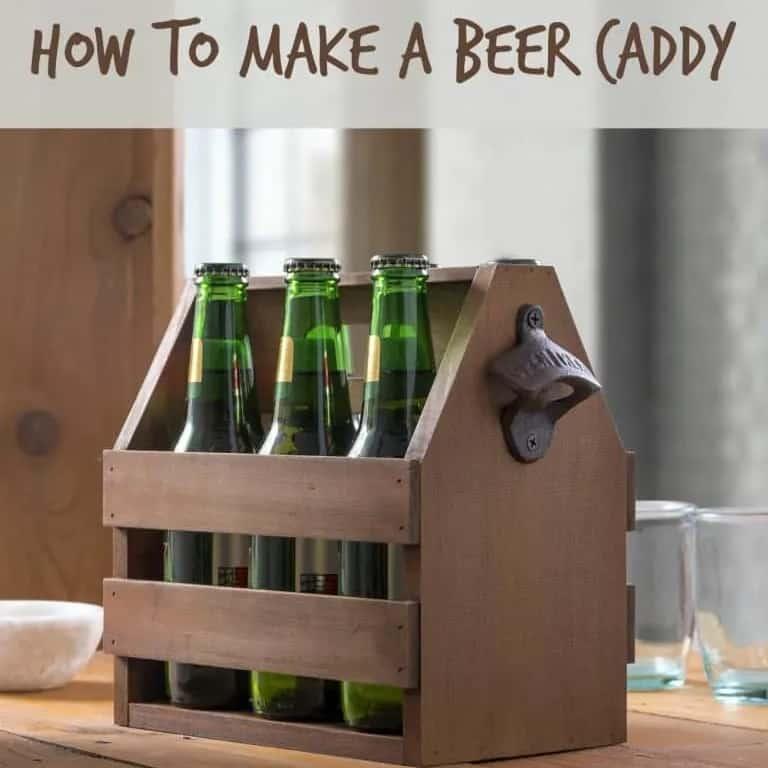 DIY Christmas Gifts - DIY Wooden Beer Caddy