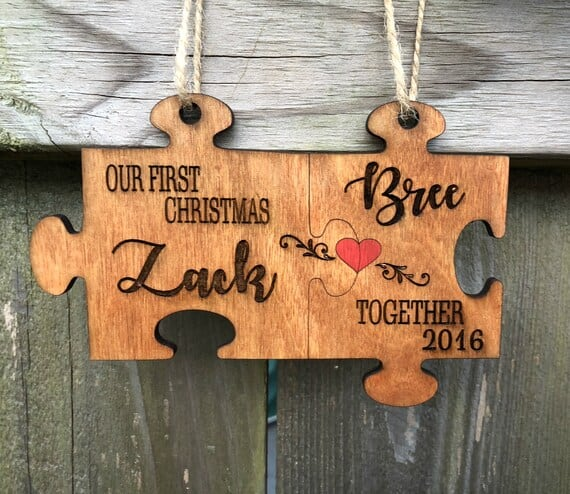 Puzzle Pieces Christmas Ornament Gifts for Newlyweds