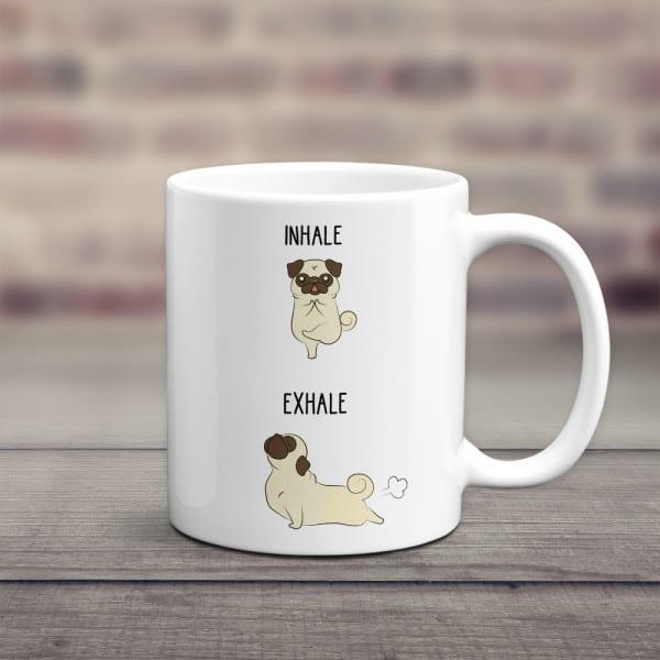 Inhale Exhale Pet Funny Mug