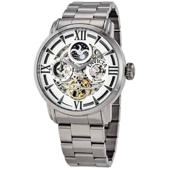 Objet D Art Automatic Silver Dial Dauphine Men's Watch