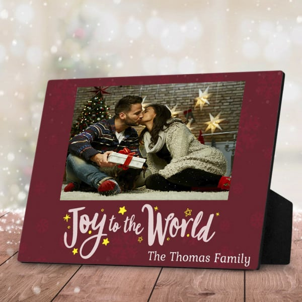 Newlyweds Christmas Desktop Plaque