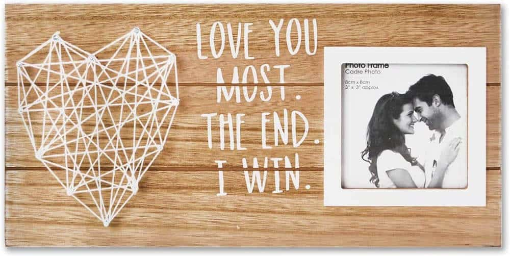 a string picture frame - i love you most - the end - i win - anniversary gift for boyfriend on 6th month anniversary