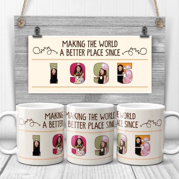 birthday photos on custom mugs