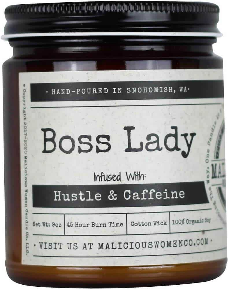 malicious women boss lady scented candle
