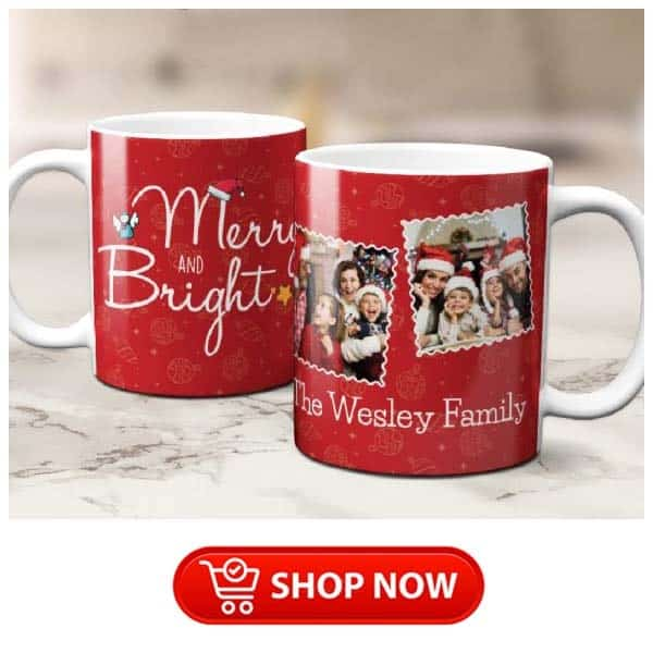 christmas gifts for parents who have everything: custom family photo mug