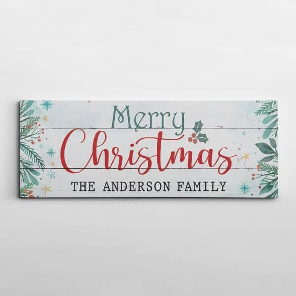 Merry Christmas Sign Canvas