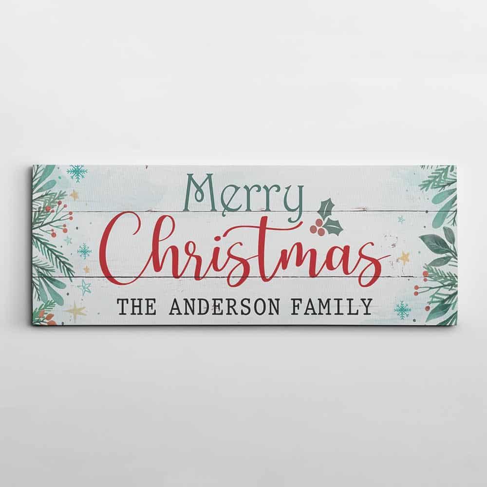 Merry Christmas Family Canvas Print