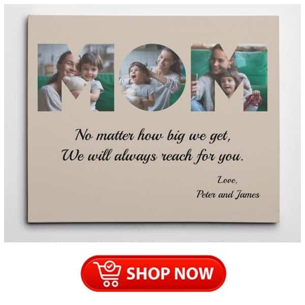 single mother gifts: MOM Photo Wall Art