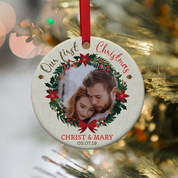 First Married Christmas Ornaments Gifts for Newlyweds