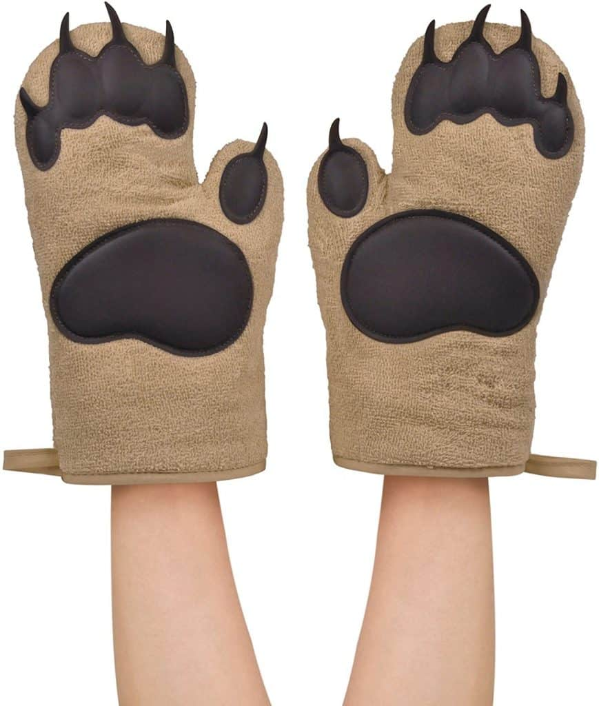 30. Bear Hands Oven Mitts