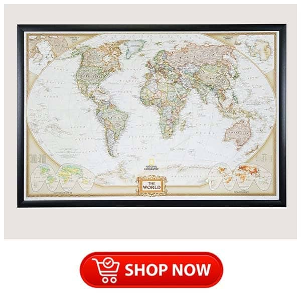 christmas gifts for parents who like to travel: push pin travel map